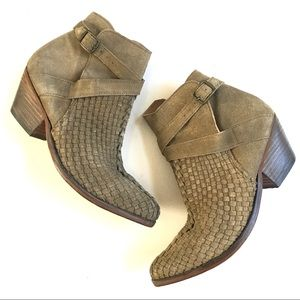 Free People Venture Stone Leather Ankle Booties